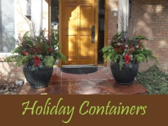 Balogh Gardens - Denver Gardening and Landscaping - Holiday Containers